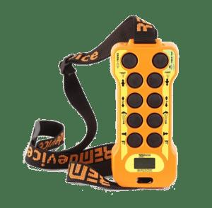 Funkfernsteuerung mit Display, Not-Aus und Gurt