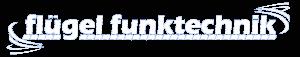 Logo weiß Flügel Funktechnik