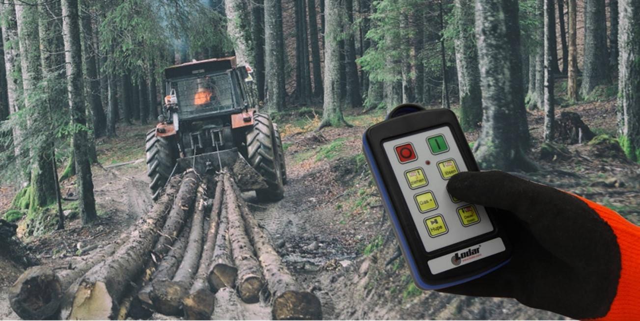 Funkfernsteuerung Forstseilwinde