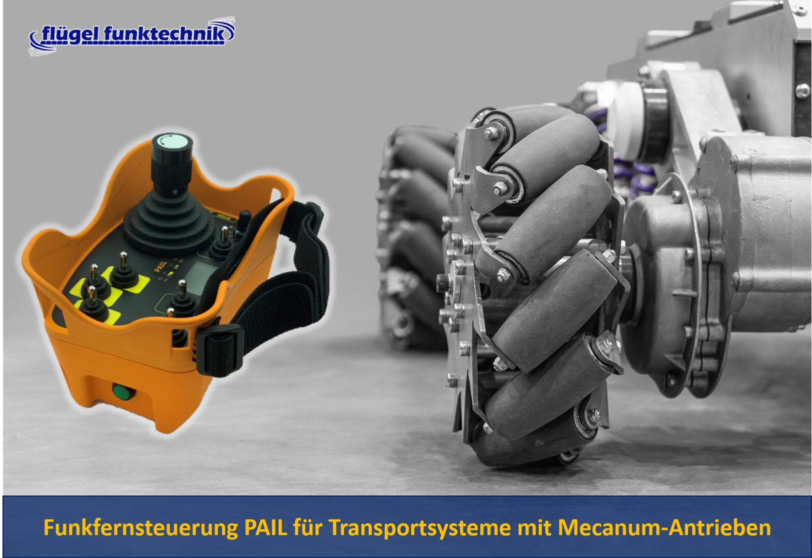 Funkfernsteuerung PAIL für fahrerlose Transportsysteme