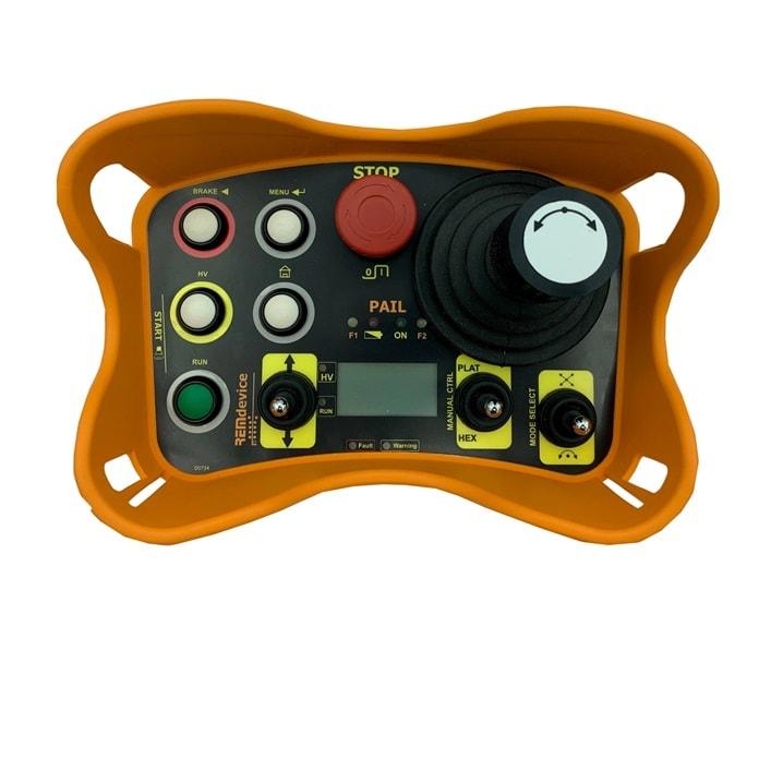 PAIL mit 3-Achs-Joystick, Drucktasten und Display