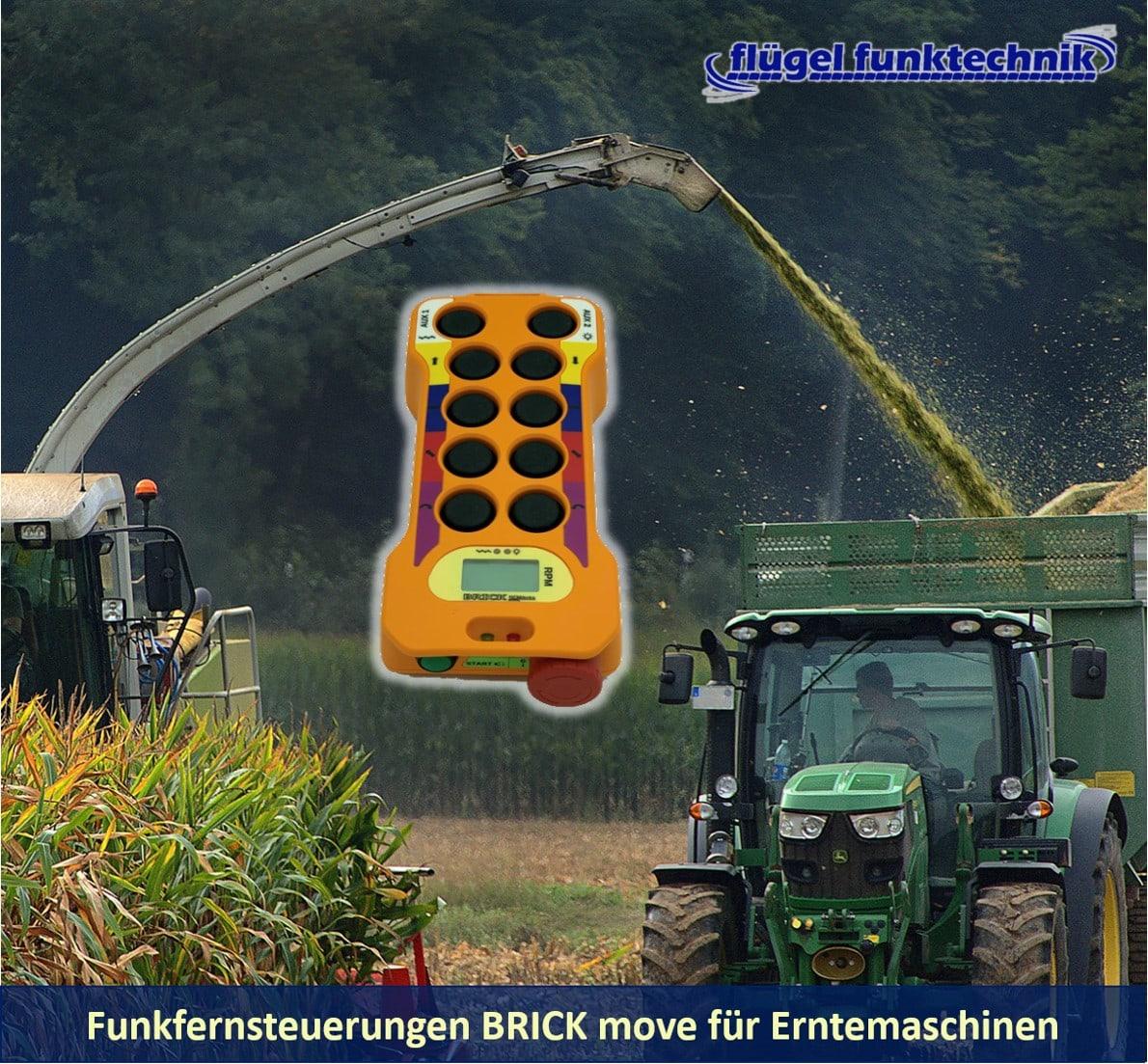 Funkfernsteuerung BRICK für Erntemaschinen