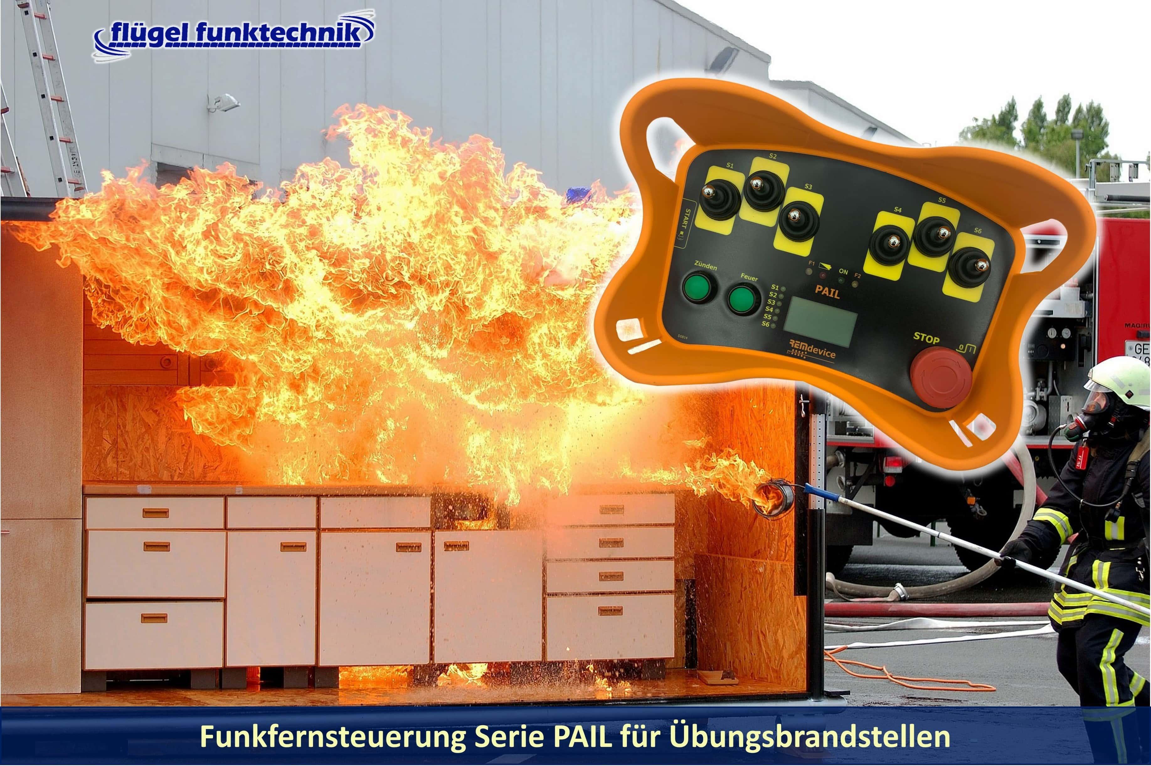 Funkfernsteuerung PAIL für Übungsbrandstellen